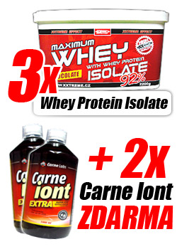 3x  Whey Protein Isolate 92% + 2x Carne Iont ZDARMA