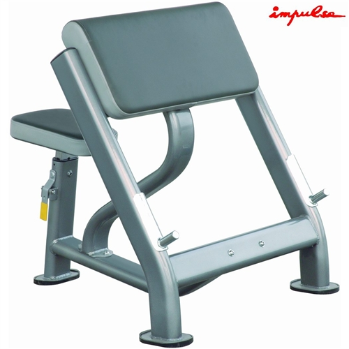 IMPULSE FITNESS - Bicepsová Posilovací lavice Seated preacher curl - , 1 ks