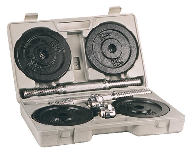 Jednoručky v kufříku set 2 x 10 kg - , 1 sada