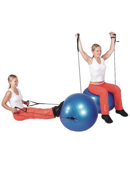 Gymnastický míč s úchyty 55 cm - průměr 55 cm, 1 ks