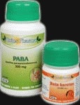 PABA 300mg 100 TBL. + beta karoten 30 tbl. zdarma - , 100 table