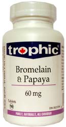 Bromelain + Papaya - Enzymy - , 90 kapslí