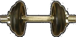 Činka na aerobic ARSENAL - červená / vinyl, 1 kg
