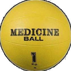 Míč medicinální plastový - medicinbal, medicineball - 1 kg,