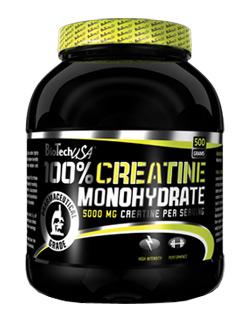 100% Creatine Monohydrate - 500 g - , 500 g