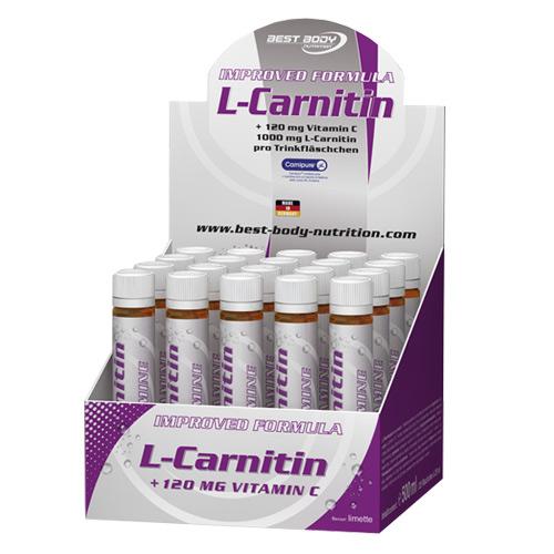 L-Carnitin 1000mg - L-CANIPURE - 20 ampulí - limetka, 20 ampulí