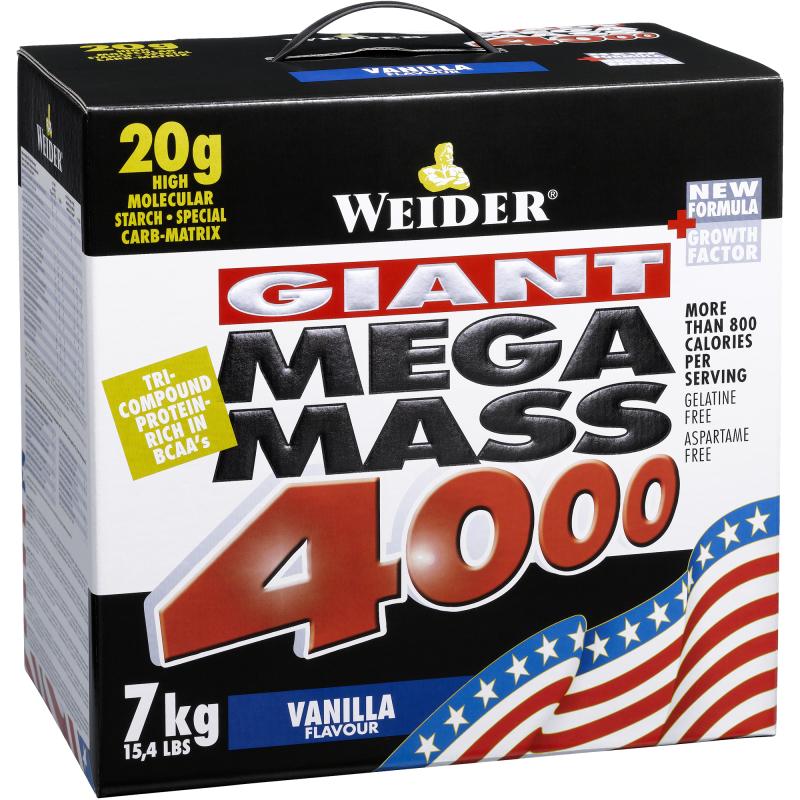 Giant Mega Mass 4000 - vanilka, 3000 g