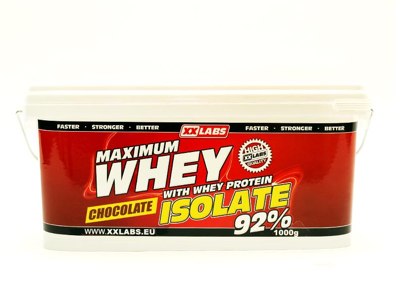Maximum Whey Protein Isolate 92 - jahoda, 1000 g