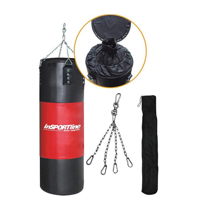 Plnící boxovací pytel inSPORTline 40-80kg - černo-červená, 1 ks