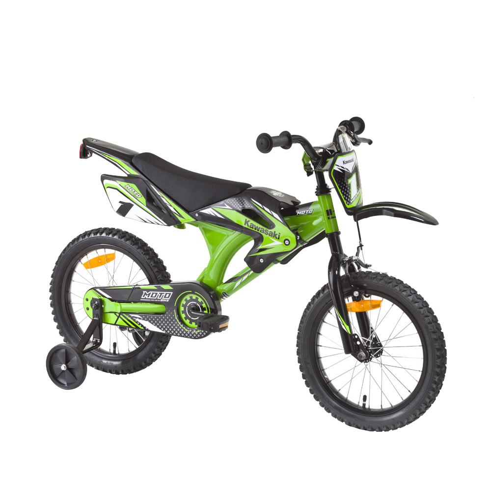 """Dětské kolo KAWASAKI Moto 16"""" - model 2014 - modrá, 1 ks"""