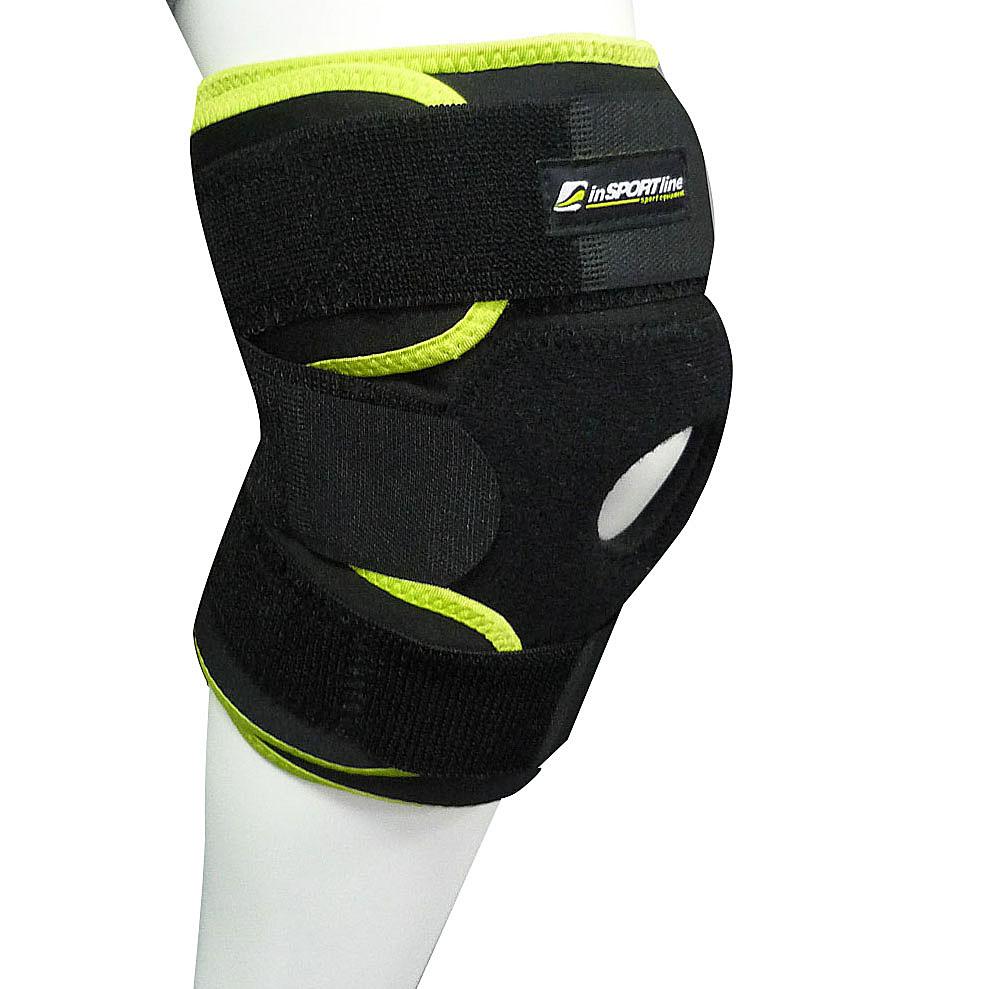 Magnetická bambusová bandáž na koleno inSPORTline - velikost S, 1 ks