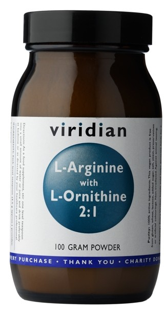 L-Arginine With L-Ornithine 2:1 Powder 100g - , 100 g