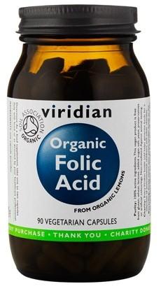 Organic Folic Acid 90 kapslí - , 90 kapslí