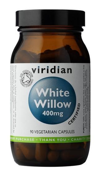 Organic White Willow Bark 400mg 90 kapslí - , 90 kapslí