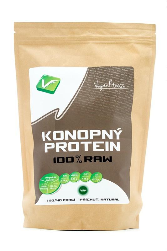 100% RAW Konopný Protein 1kg - , 1 kg