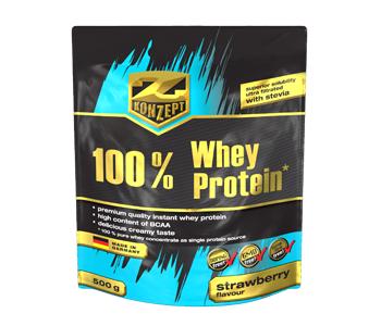 100% Whey Protein - jahoda, 500 g