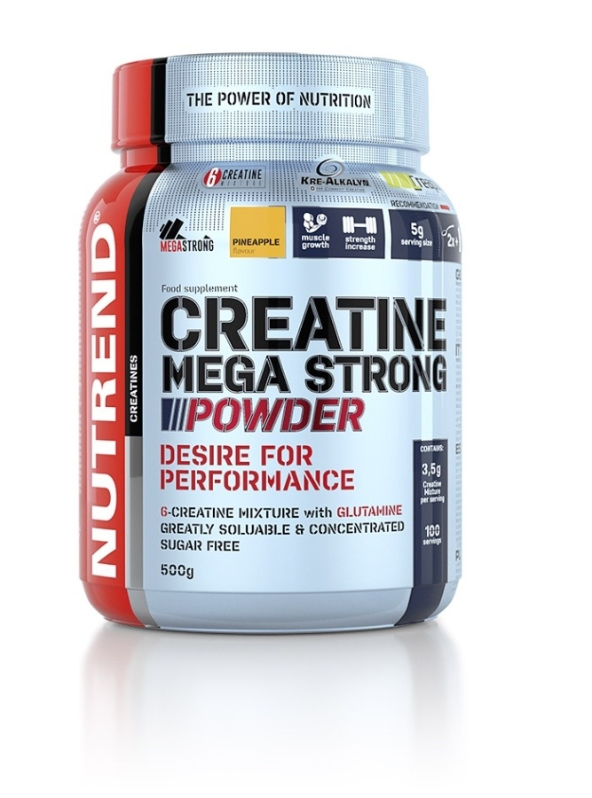 Creatine Mega Strong Powder - punč + lesní plody , 500 g
