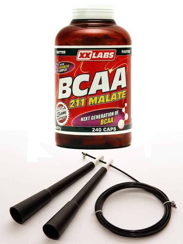 211 BCAA Malate 240 cps + XXTREME rychlo-švihadlo zdarma