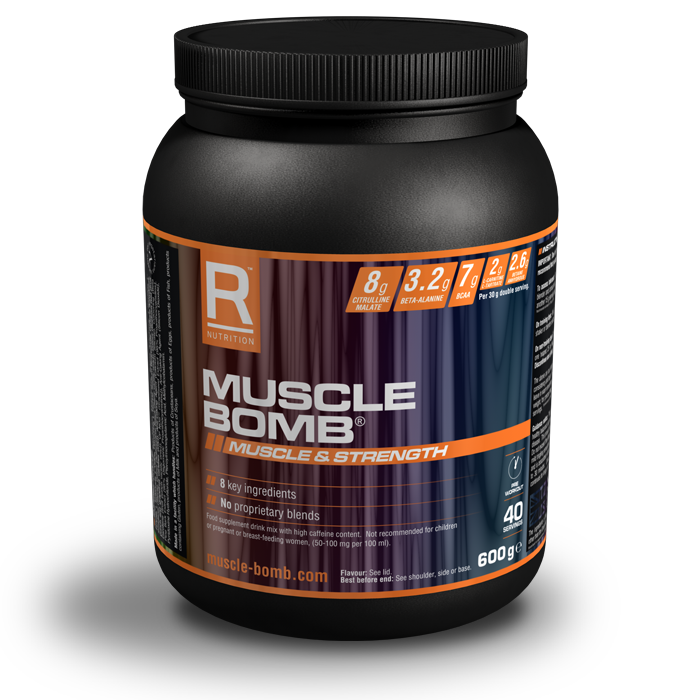 Muscle Bomb Caffeine Free 600g - fruit